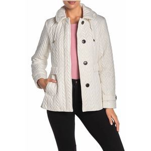 NWT Kate Spade Hooded Button Quilted Moto Jacket
